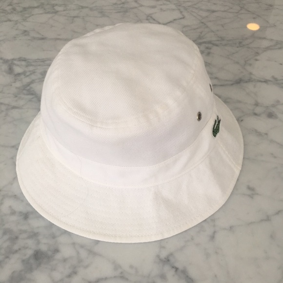 80d61ca40 Lacoste Accessories - Lacoste White Bucket Hat